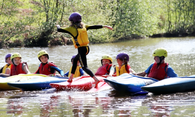 Children Canoe Training